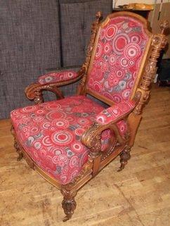 Eiken fauteuil
