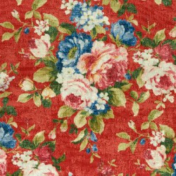 velvet meubelstof met bloempatroon