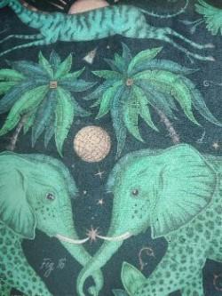 Zambezi Teal fluweel/velvet