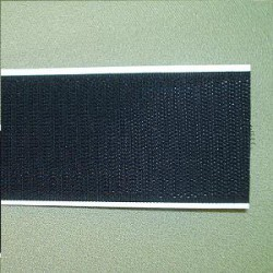 klittenband zelfklevend haak zwart 5cm.